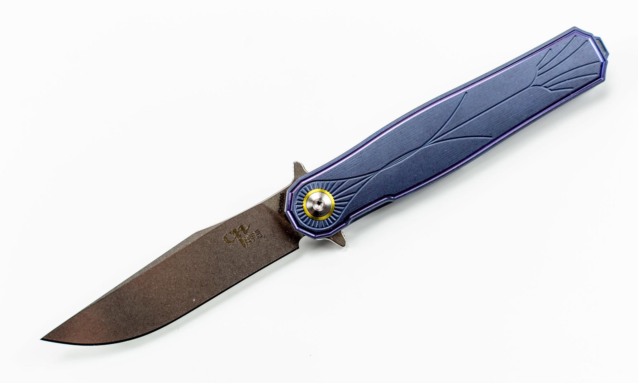 Фото 8 - Складной нож CH3505 Blue сталь S35VN от ch outdoor knife