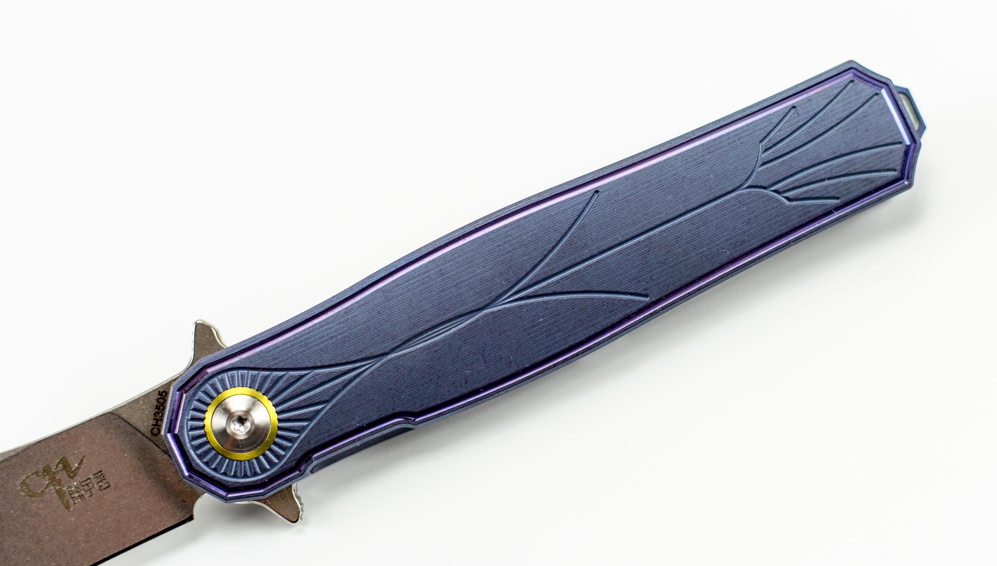 Фото 9 - Складной нож CH3505 Blue сталь S35VN от ch outdoor knife