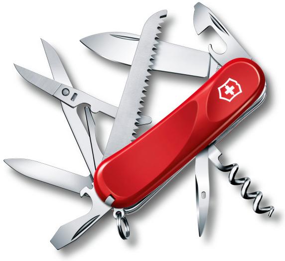 Нож перочинный Victorinox Evolution 17 2.3913.E 85мм 15 функций красныйШвейцарские ножи Victorinox<br>Серия Evolution Модель 17 2.3913.E Цвет корпуса красный Размеры 27.5x85x23 мм<br>