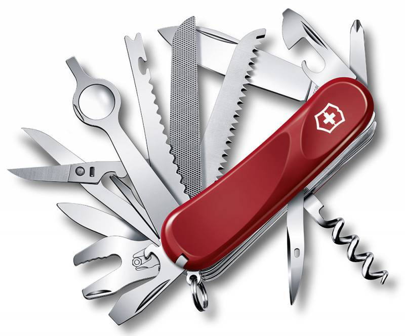 Нож перочинный Victorinox Evolution 28 2.5383.E 85мм 23 функции красныйШвейцарские армейские ножи Victorinox<br>Серия Evolution Модель 28 2.5383.E Цвет корпуса красный Размеры 27.5x85x33 мм<br>