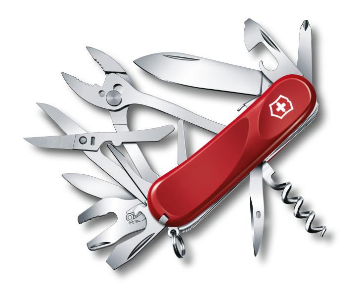 Нож перочинный Victorinox Evolution S557 2.5223.SE 85мм 21 функция красныйШвейцарские армейские ножи Victorinox<br>Серия Evolution Модель S557 2.5223.SE Цвет корпуса красный Размеры 27.5x85x28 мм<br>