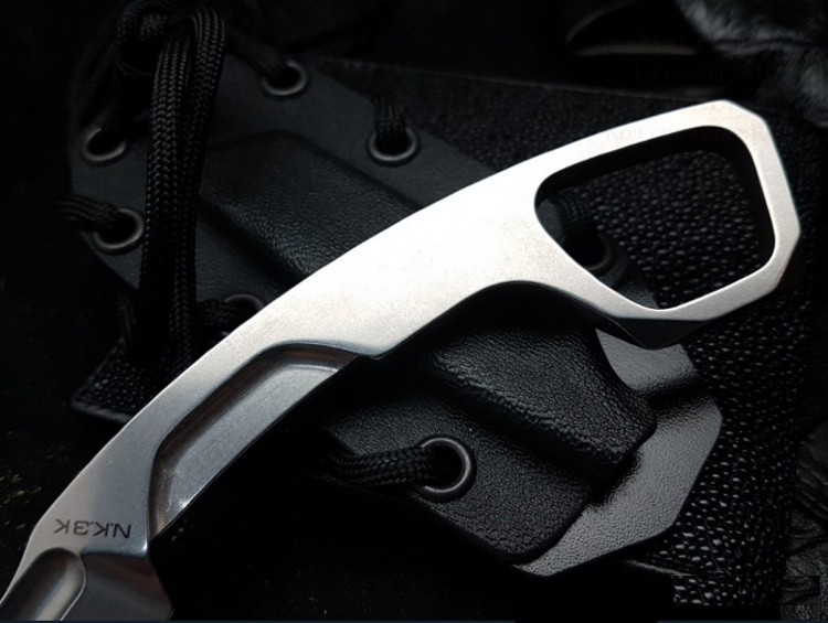 Фото 3 - Нож с фиксированным клинком Extrema Ratio N.K.3 K Karambit Stonewashed, сталь Bohler N-690, цельнометаллический