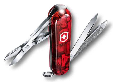 Нож перочинный Victorinox SwissLite Ruby 0.6228.T 58мм 7 функций полупрозрачный красный - Nozhikov.ru