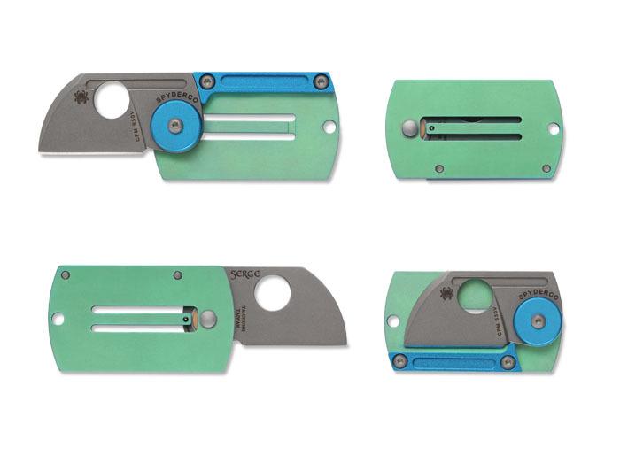 Нож складной Dog Tag FolderРаскладные ножи<br>Очень метко названый – Dog Tag – дословно переводится как «солдатский жетон», складной нож от Spyderco имеет очень малый размер и отверстие в раме, точно предназначенное для шейной цепочки. Spyderco Dog Tag С188ALTIP разработан дизайнером, родом из Украины, Сергеем Панченко (Serge Panchenko), признанным мастером, для которого каждый нож – это, прежде всего, произведение искусства, но при этом, его проекты всегда очень практичны и удобны в использовании.<br>Миниатюрный, удобный размер Spyderco Dog Tag органично дополнен очень легкой рукоятью из анодированного титана светло зеленого цвета. Как механизм открытия ножа использован стальной шарнир, расположенный на соединении клинка и рукояти, дополненный оригинальным алюминиевым диском светло синего цвета, который придает прочности всей конструкции. Механизмом фиксации выступает удобная защелка, вырезанная в цельной раме рукояти и прочный алюминиевый бэкспейсер, который дополнительно защищает лезвие в закрытом состоянии.<br><br>Клинок Dog Tag С188ALTIP изготовлен из нержавеющей стали CPM-S30V с финишной обработкой StoneWash, придающей поверхности матовую текстуру и привлекательный вид. Форма клинка Dog Tag – представляет собой укороченный Sheepstfoot с неотъемлемым элементом ножей Spyderco – круглым отверстием в лезвии –визитной карточкой производителя, и одновременно удобным приспособлением для открытия и закрытия ножа.<br>