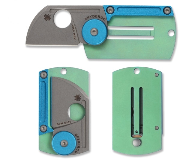 Фото 2 - Складной нож-брелок Dog Tag Folder - Spyderco С188ALTIP, сталь CPM S30V, рукоять титан/алюминий
