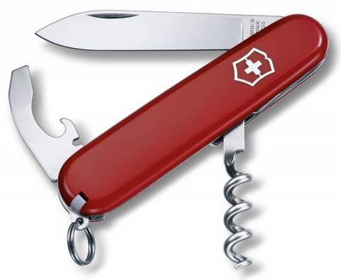 Нож перочинный Victorinox Waiter 0.3303 84мм 9 функций красный (блистер) - Nozhikov.ru