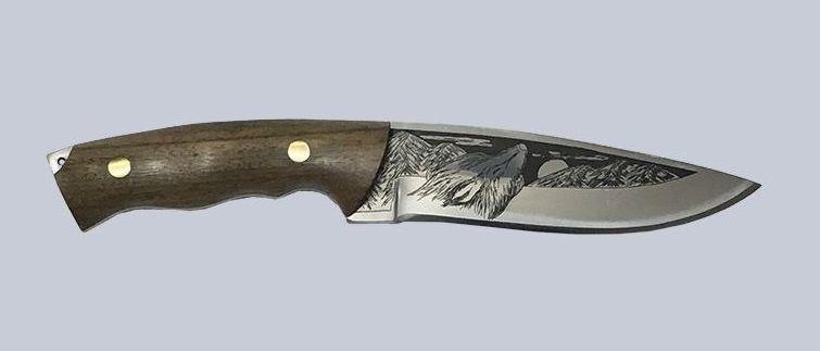 Фото - Нож Сафари-1, Кизляр СТО, сталь 65х13, орех