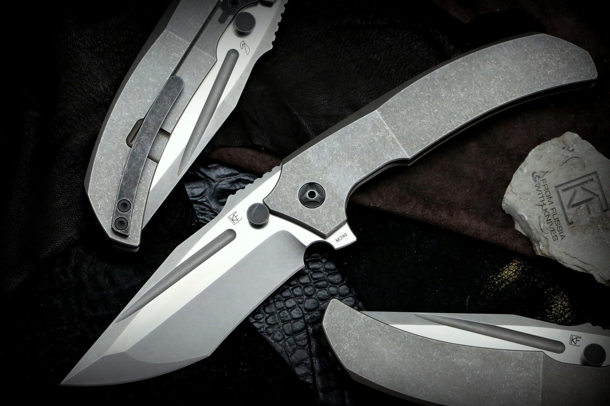 Складной нож CKF Satori, сталь M390, рукоять Titanium
