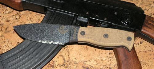 Нож с фиксированным клинком Ontario Afhgan - Tan Micarta, серейтор мачете ontario sp8