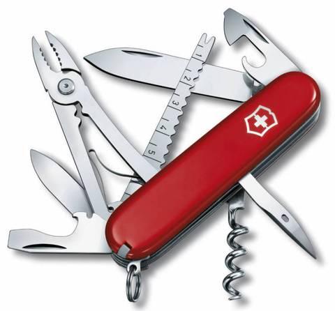 Нож перочинный Victorinox Angler 1.3653 91мм 18 функций красный - Nozhikov.ru