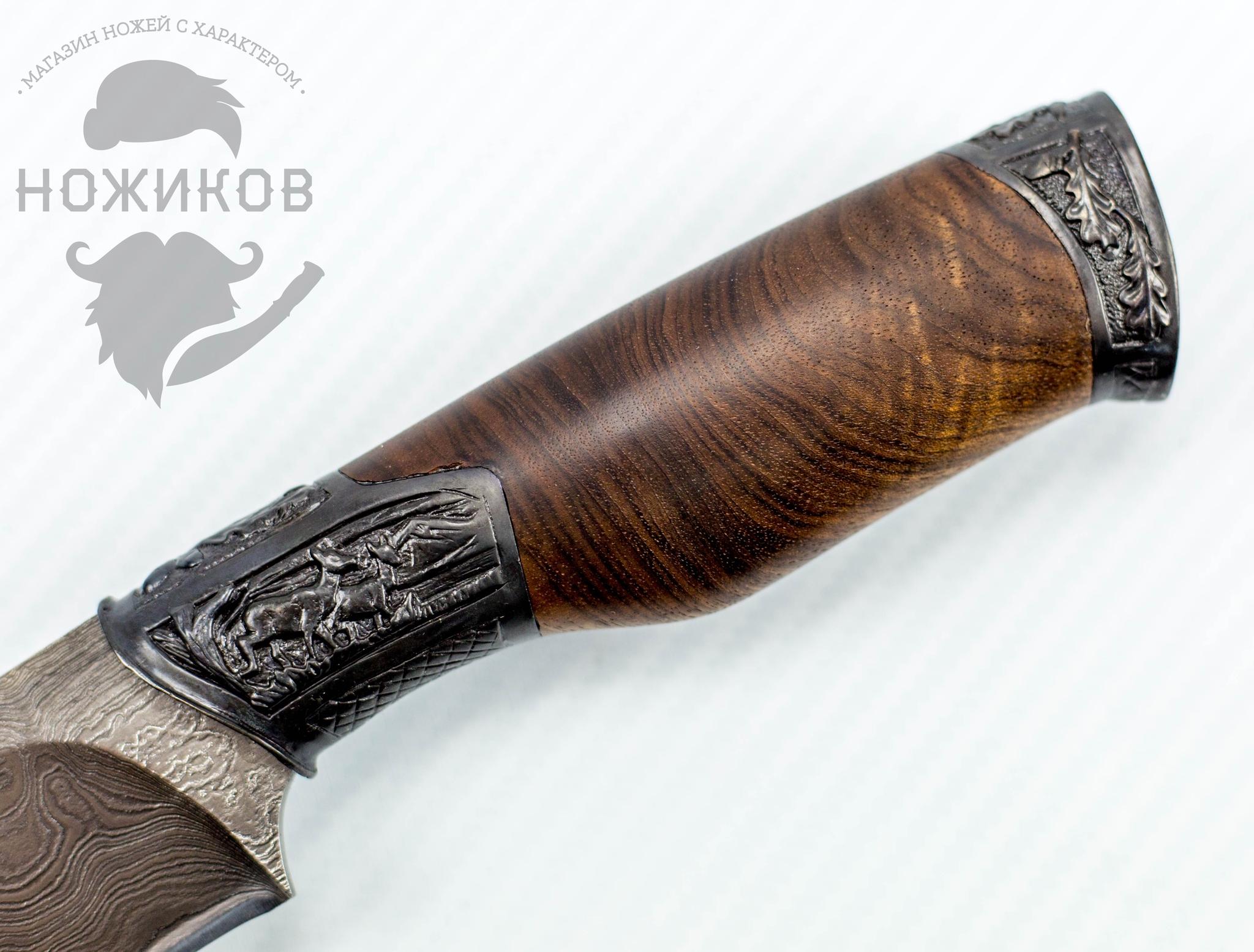 Фото 3 - Авторский Нож из Дамаска №85, Кизляр от Noname