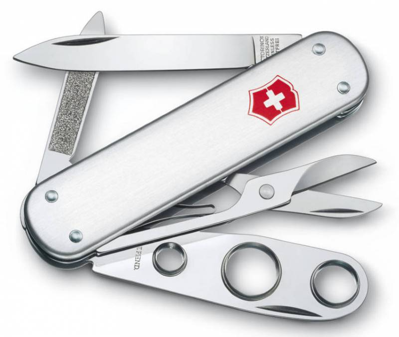 Нож перочинный Victorinox Cigar Cutter 0.6580.16 74 мм 5 функций серебристый high quality stainless steel cigar cutter silver