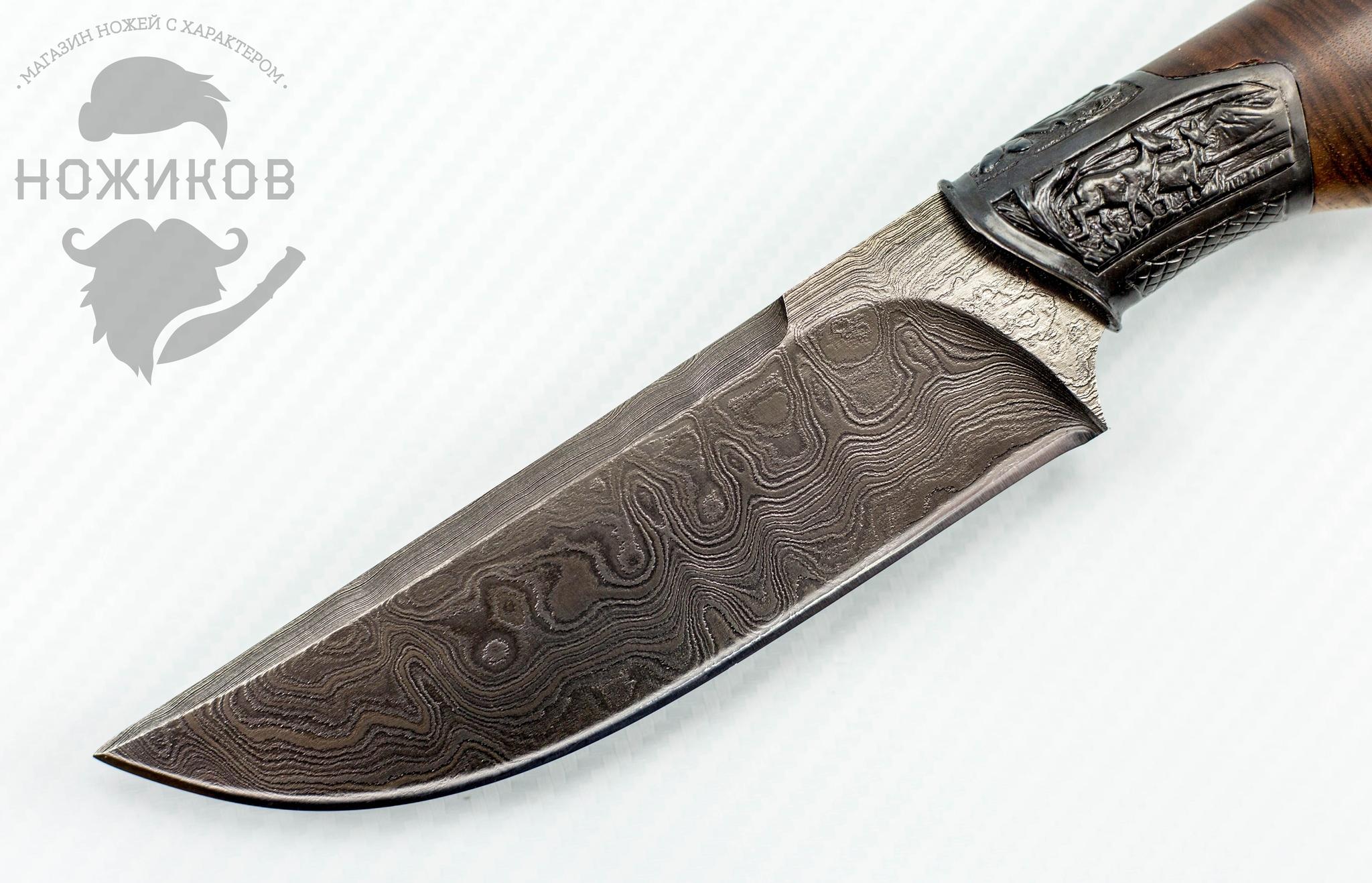 Фото 2 - Авторский Нож из Дамаска №85, Кизляр от Noname