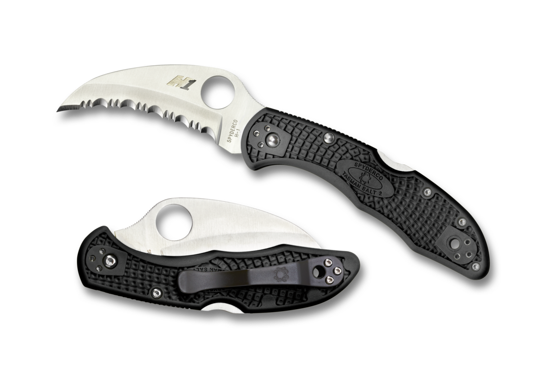 Складной нож Spyderco Tasman Salt 2 Black нож складной rat™ 1 limited edition black blade carbon fiber handle d2 tool steel