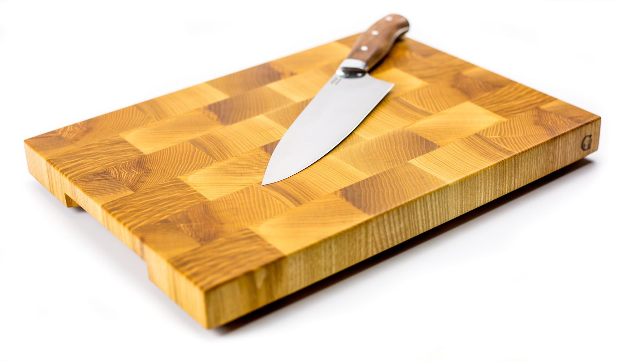 """Доска разделочная торцевая, ясень, 27х37х3 см от Магазин ножей """"Ножиков"""""""