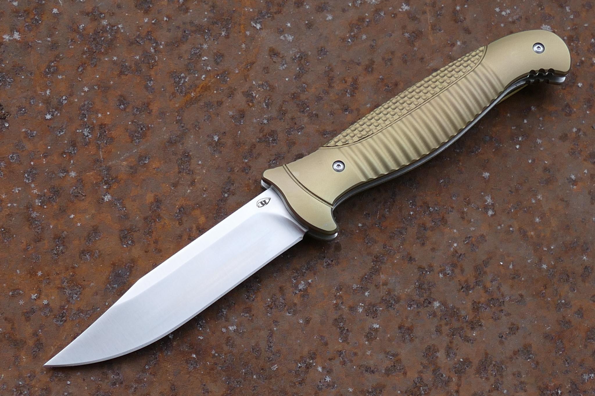 Складной нож Финка-2, S35VNРаскладные ножи<br>Складной нож Финка-2 S35VNРукоять и клипса: титановый сплав 6AL4VIKBS (шарикоподшипниковая система)каждый нож имеет свой номерДизайн Рогожкин Андрей<br>