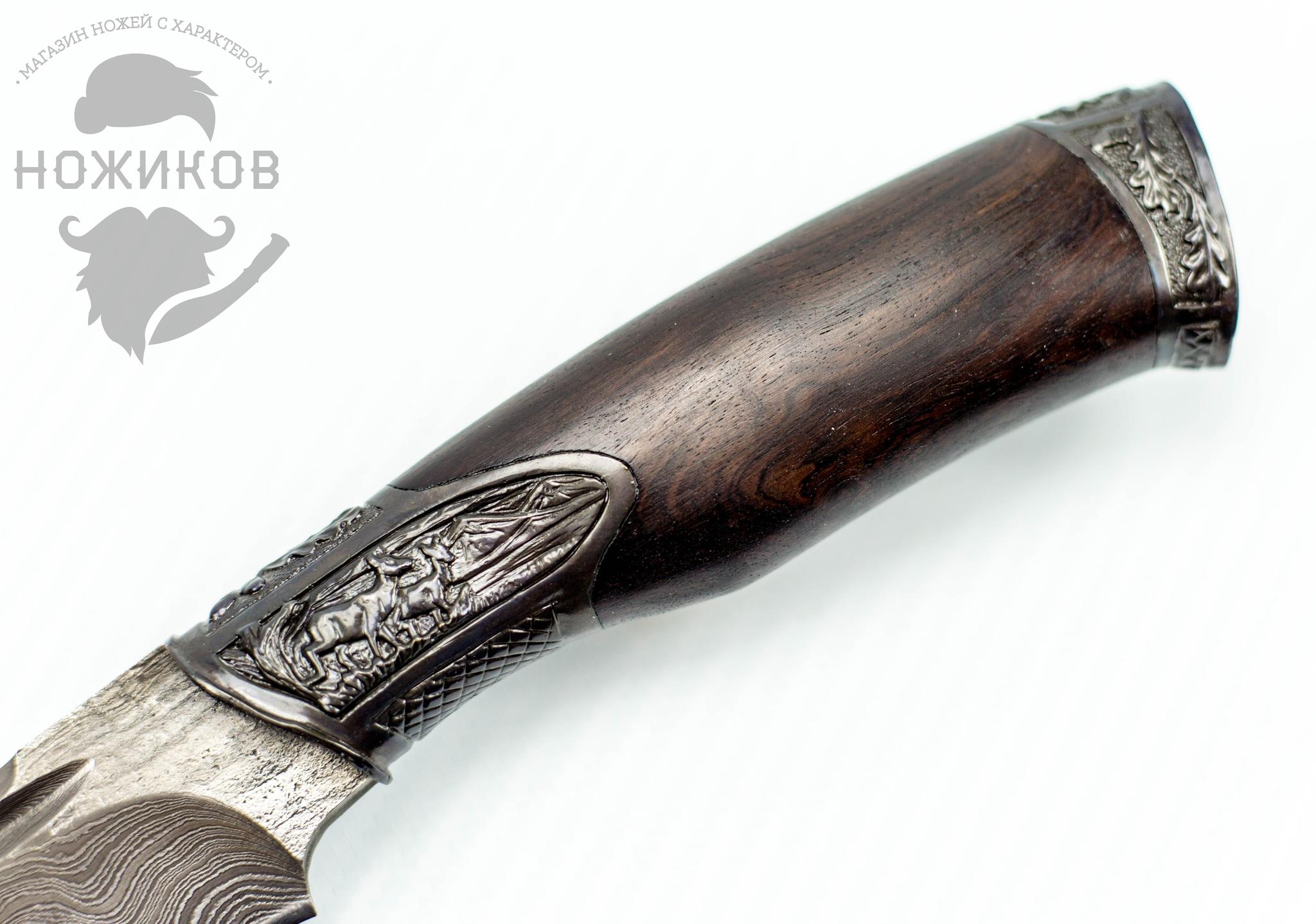 Фото 3 - Авторский Нож из Дамаска №51, Кизляр