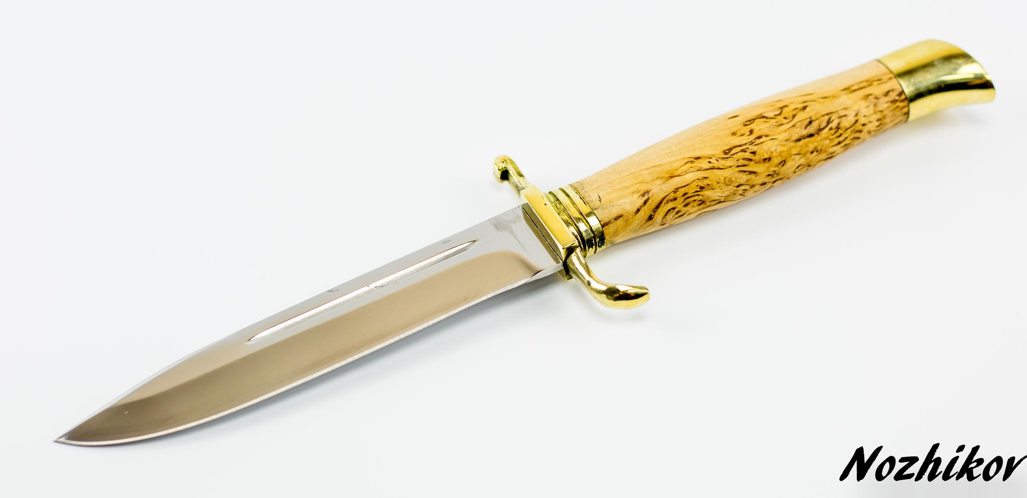 Фото 2 - Нож Финка НКВД, сталь 95х18, карельская береза от Промтехснаб