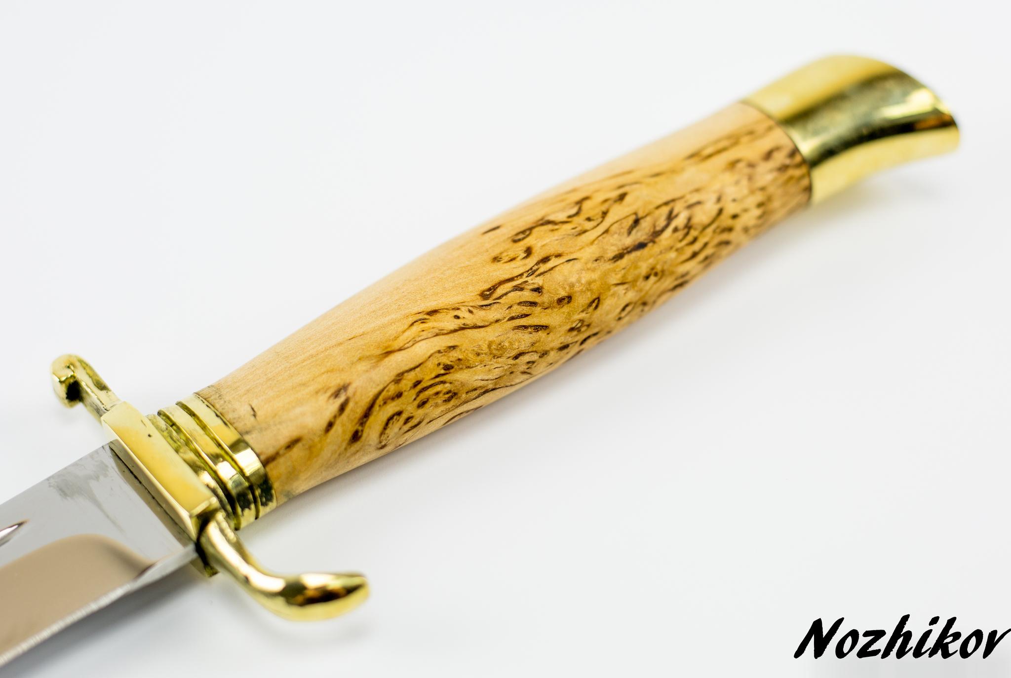 Фото 4 - Нож Финка НКВД, сталь 95х18, карельская береза от Промтехснаб