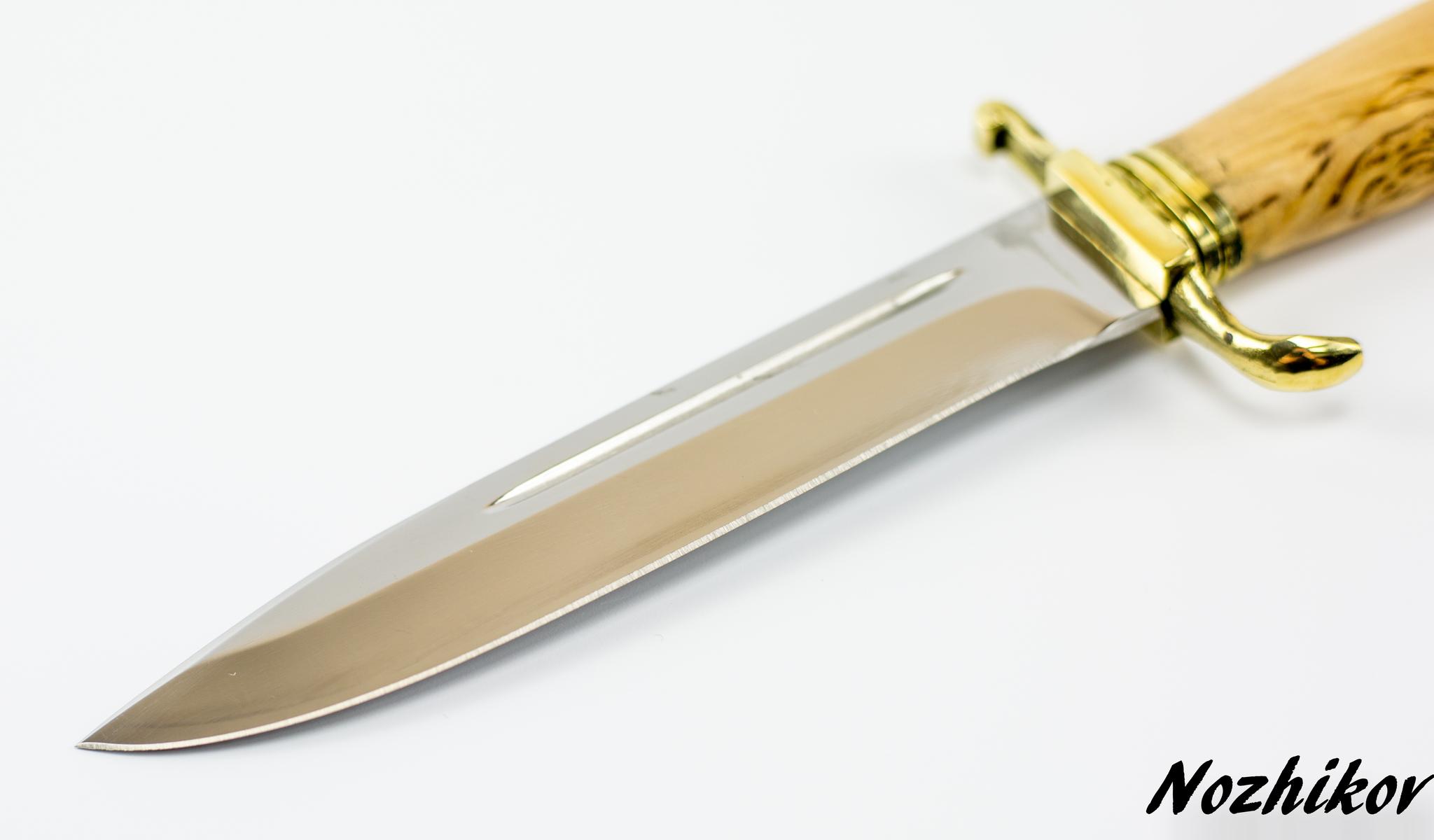 Фото 5 - Нож Финка НКВД, сталь 95х18, карельская береза от Промтехснаб