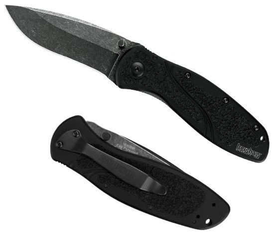 Нож складной KERSHAW Blur с покрытием BlackWashРаскладные ножи<br>Благодаря современным технологиям производства, компания KERSHAW разработала уникальную по форме рукоять ножа Blur, которая решает проблему случайного соскальзывания руки на режущую часть клинка. Материал рукояти авиационный алюминий 6061T6 с текстурированными вставками ( Trac-Tec ). Blur относится к ножам для ежедневного использования ( EverydayCarry ). Дизайнером ножа является известный найфмейкер Кен Оионион. За открытие клинка отвечает запатентованная технология KERSHAW SpeedSafe®. Технология SpeedSafe® помогает легко открыть нож толчком по штифту или так называемому плавнику ( Флипперу ) расположенному на лезвии ножа. Секрет кроется в торсионном стержне, который расположен внутри рукоятки. С помощью этой системы открытие ножа одной рукой происходит просто и удобно. Каждый нож Blur производится на современном оборудовании и комплектуется металлическим клипом для ношения ножа в кармане брюк.<br><br>Производитель: KERSHAW США<br>Сталь: Sandvik 14C28N покрытие BlackWash<br>Рукоять: алюминий 6061T6 со вставками Trac-Tec<br>Замок: лайнер-лок<br>Длина лезвия: 8.6 см.<br>Вес: 110.6 гр.<br>