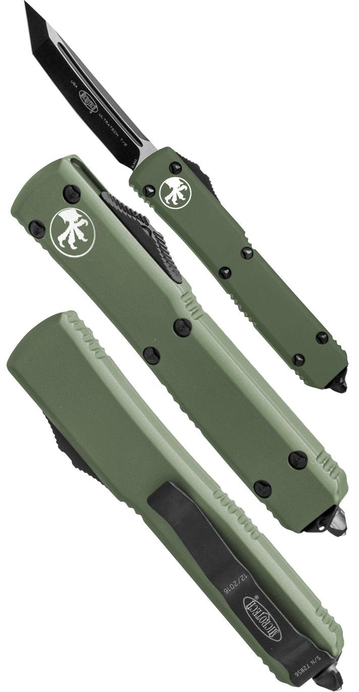 Автоматический выкидной нож Ultratech  T/E, Contoured Chassis Black, tanto от Microtech