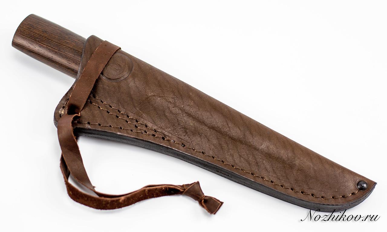 Фото 5 - Нож Якутский средний дамаск, венге от Кузница Семина