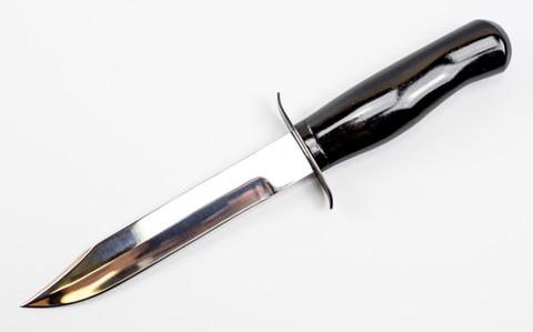 Нож НР-40, черный, полированный - Nozhikov.ru