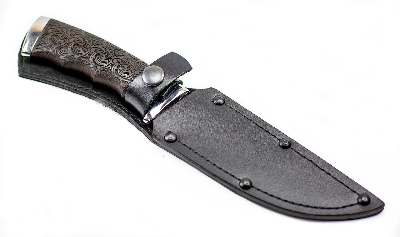 Нож Кобра-3, резной граб