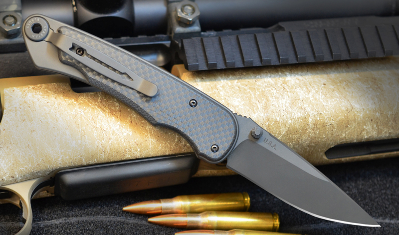 Фото 2 - Нож складной Spartan Blades Akribis Meteorite Grey, сталь CPM-S35VN с DLC покрытием, рукоять титан/карбон Scales