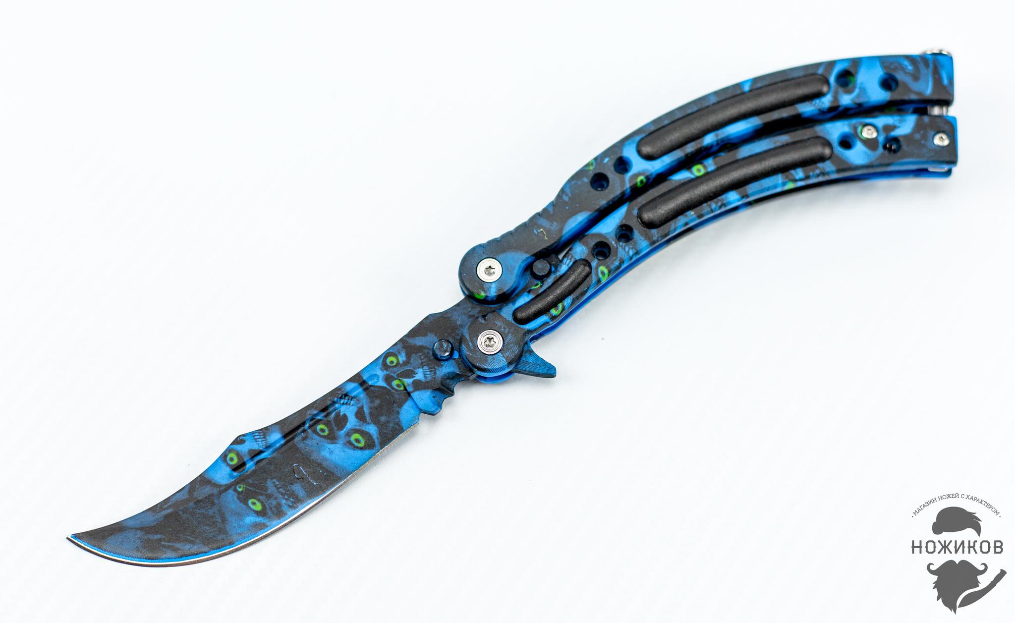 Нож-бабочка (балисонг) CS GO Череп от Noname
