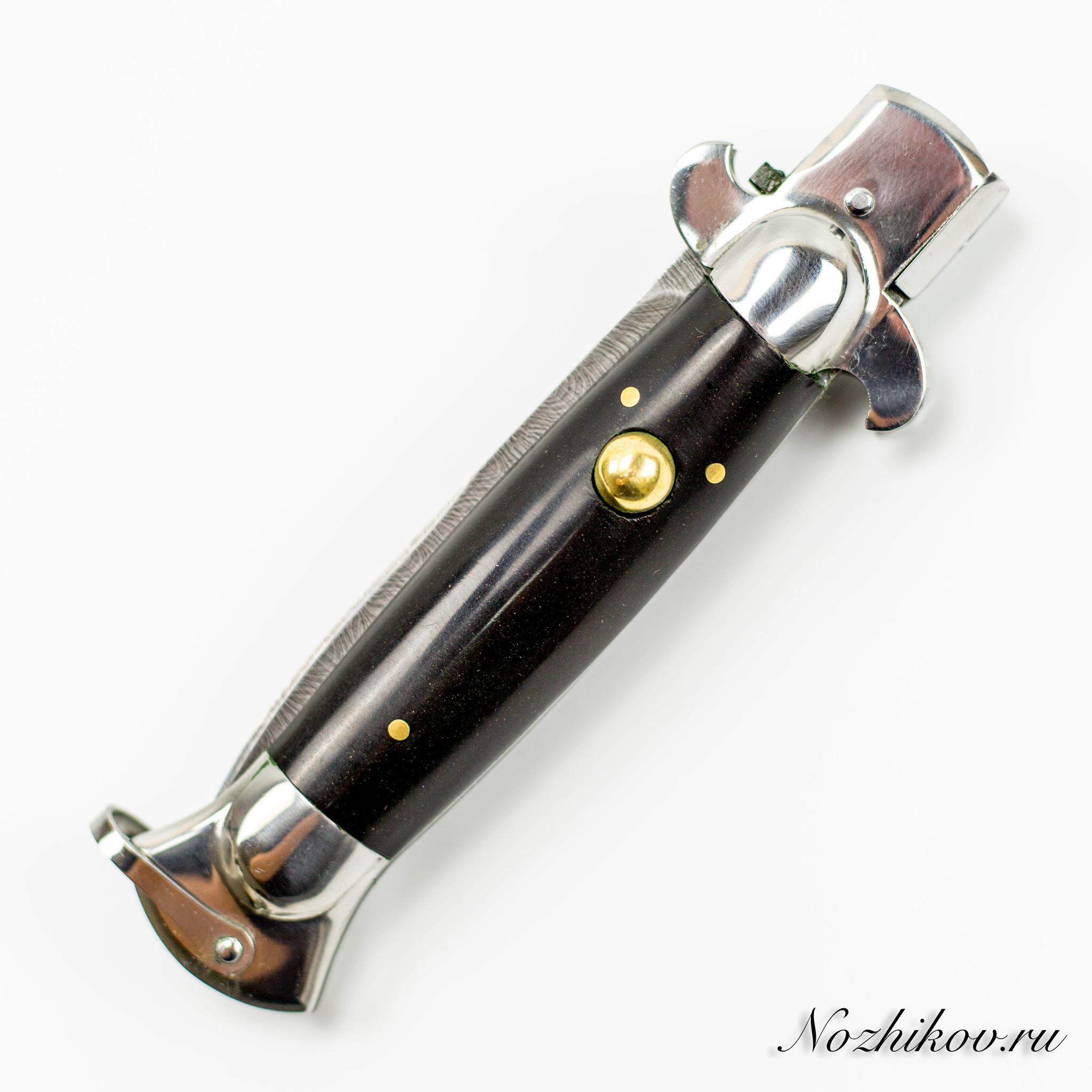 Выкидной нож Флинт от Медтех, дамасская сталь