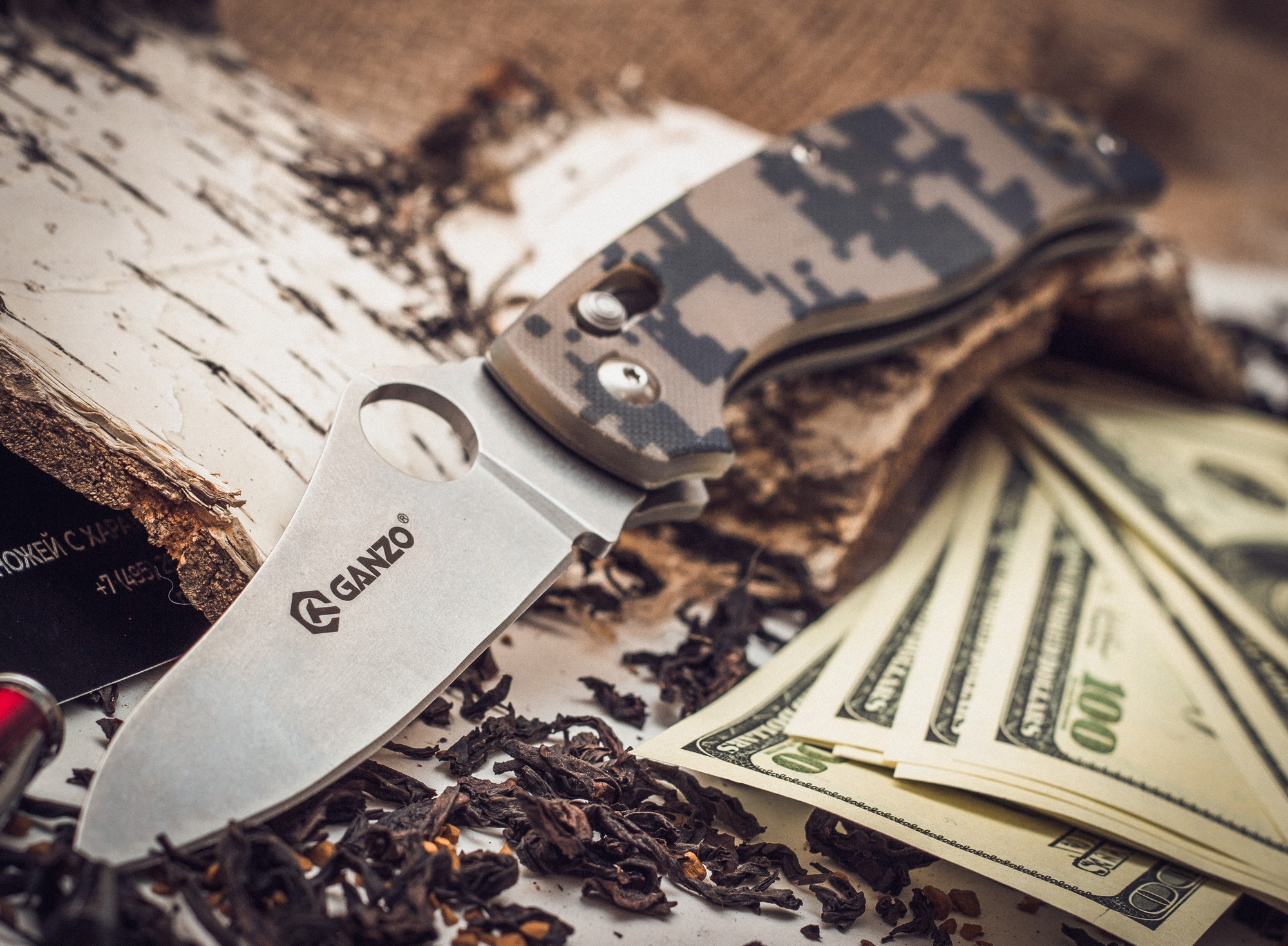Фото 2 - Складной нож Ganzo G733, камуфляж