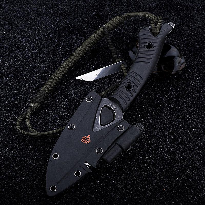Фото 10 - Нож для выживания Тайник, черный от QSP