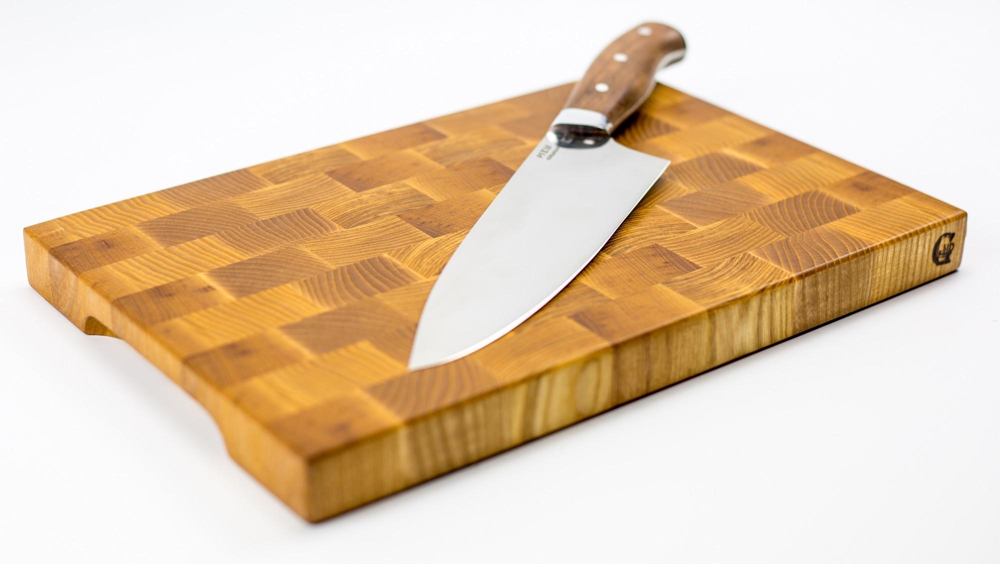 """Доска разделочная торцевая, ясень, 20х30х2,5 см от Магазин ножей """"Ножиков"""""""