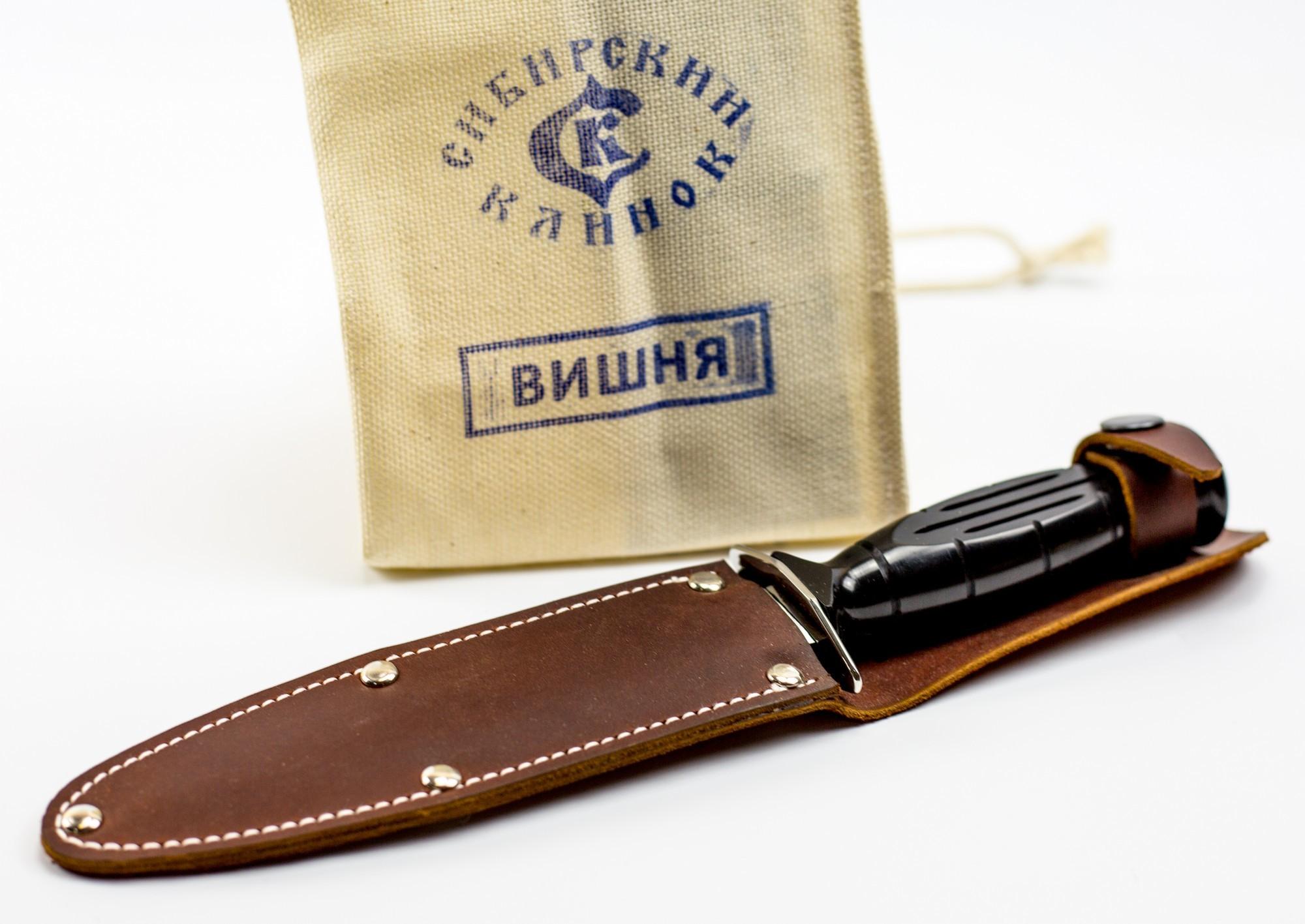 Фото 4 - Нож НР-43 Вишня, черная от Сибирский клинок