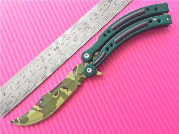 Фото 5 - Нож-бабочка (балисонг) CS GO Камуфляж