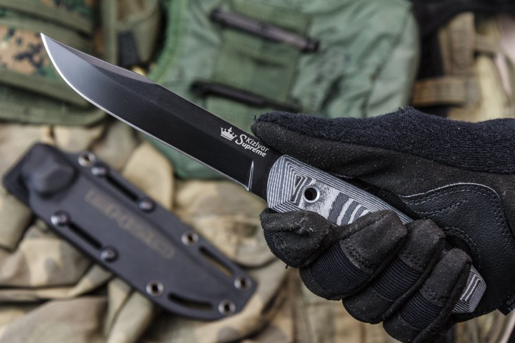 Туристический нож Enzo D2 BT, Кизляр нож складной rat™ 1 limited edition black blade carbon fiber handle d2 tool steel