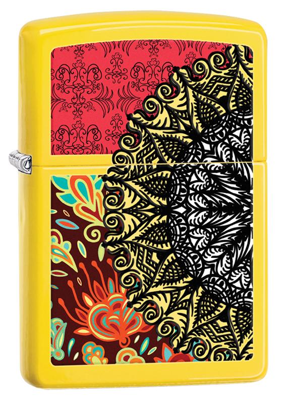 Зажигалка ZIPPO Classic с рисунком, покрытие Lemon™ зажигалка