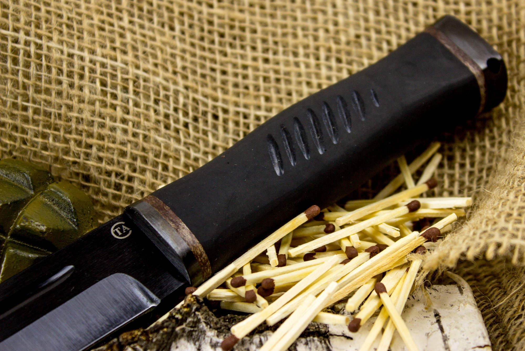 Фото 4 - Нож Горец-2, сталь 65Г, резина от Титов и Солдатова