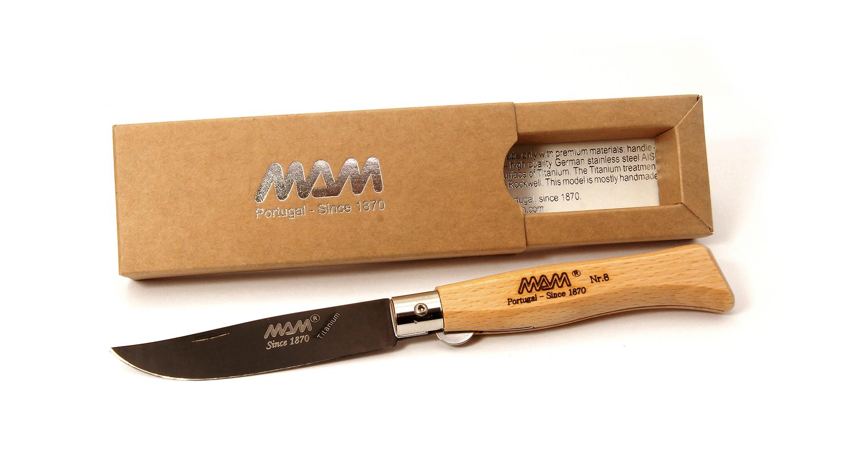 Нож MAM Douro 2085 ручка бук, цвет клинка черный