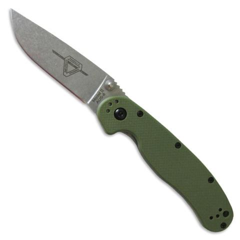 Складной нож Ontario RAT II, зеленый - Nozhikov.ru