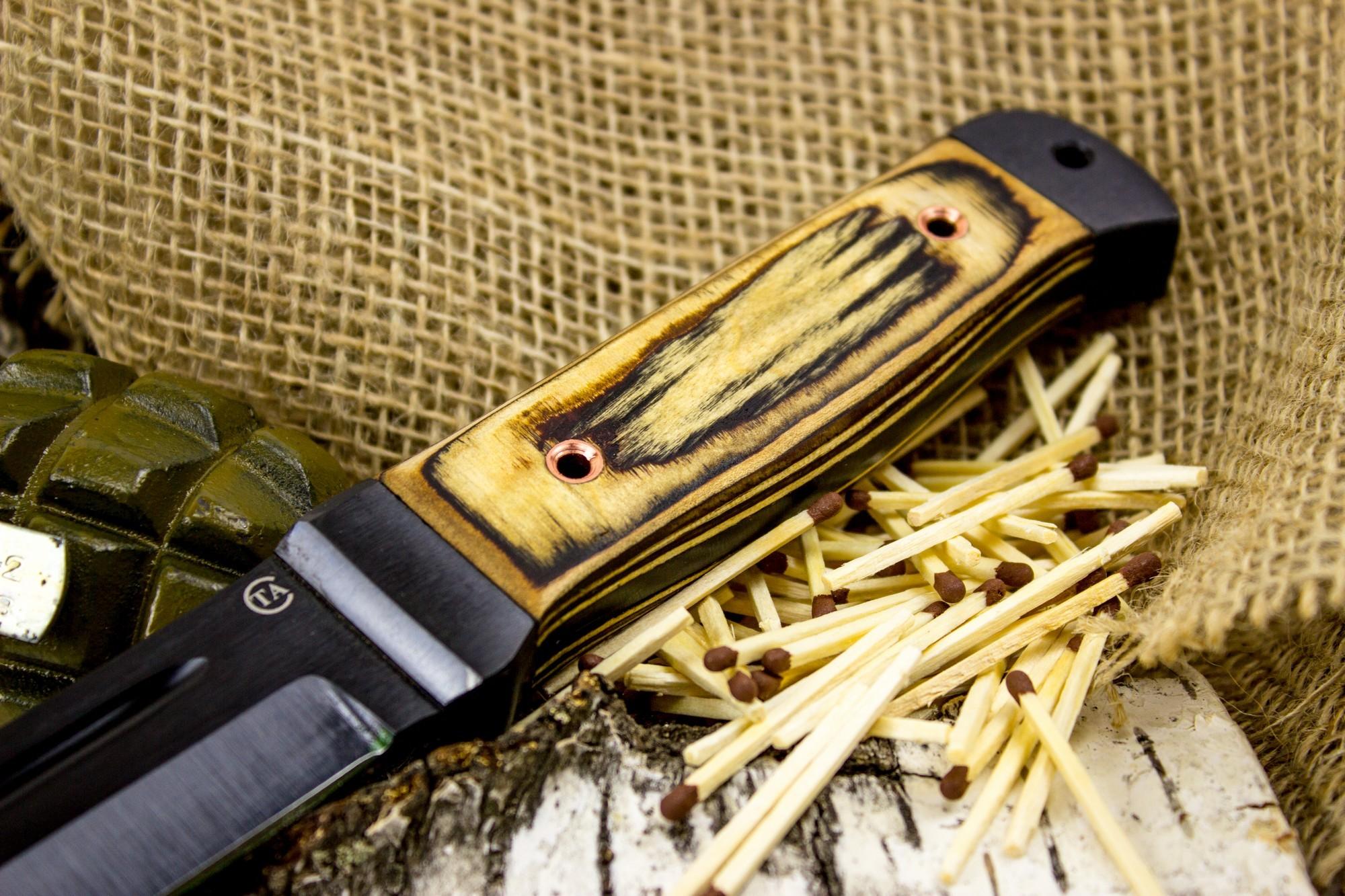 Фото 4 - Нож Горец-2, сталь 65Г, бакелитовая фанера от Титов и Солдатова