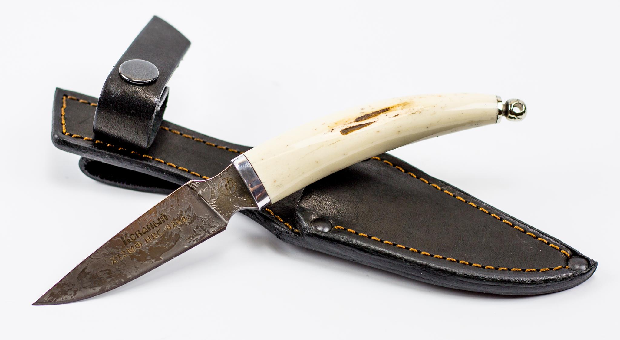 Фото 4 - Нож Рысь малютка, сталь Х12МФ, рог лося от Ножи Фурсач