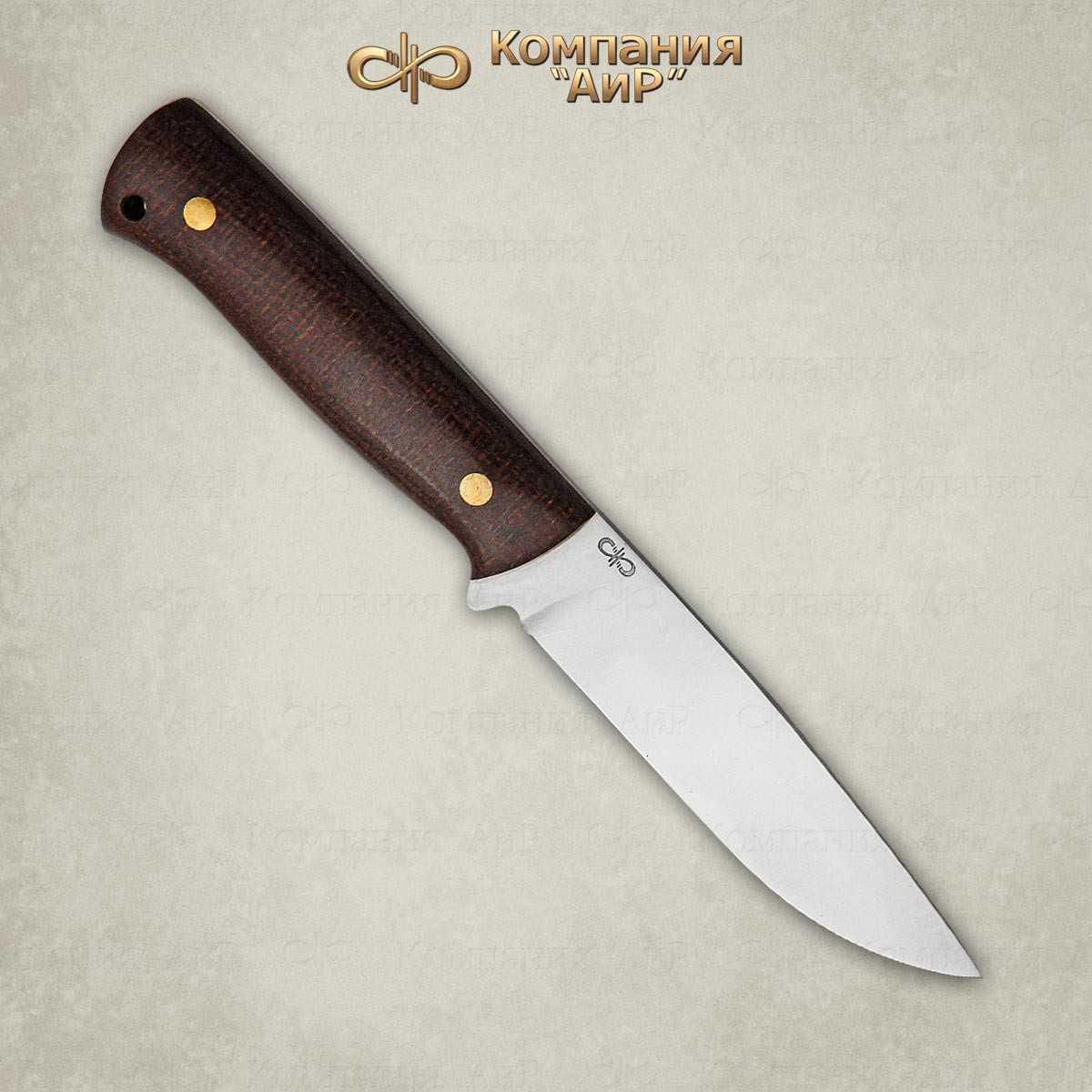 Нож цельнометаллический Стриж, АиР, текстолит, 100х13мНожи Златоуст<br>«Стриж» – компактный универсальный нож с накладным монтажом рукояти. Клинок ножа выполнен с понижением линии обуха, благодаря чему острие находится на оси приложения силы и имеет хорошую проникающую способность. Прямые спуски от обуха образуют прекрасно режущее лезвие. В основании клинка имеется упор-ограничитель, позволяющий предотвратить соскальзывание руки на лезвие. Нож хорошо сбалансирован и посадист. На рукояти имеется отверстие для темляка. Отличный инструмент для похода, дальних путешествий, в быту и фермерском хозяйстве.<br>В комплекте:<br><br>кожаные ножны<br>сертификат соответствия о том, что нож не является холодным оружием<br>паспорт изделия<br>мягкий текстильный кейс с логотипом компании<br>