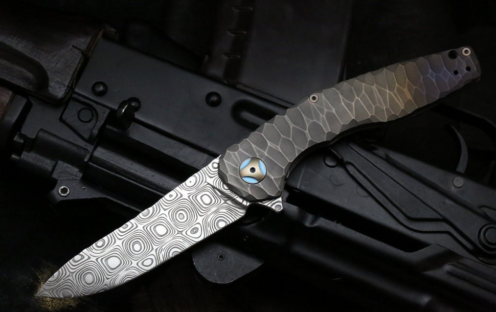 Складной нож CKF S.S.E., сталь M390, рукоять Titanium
