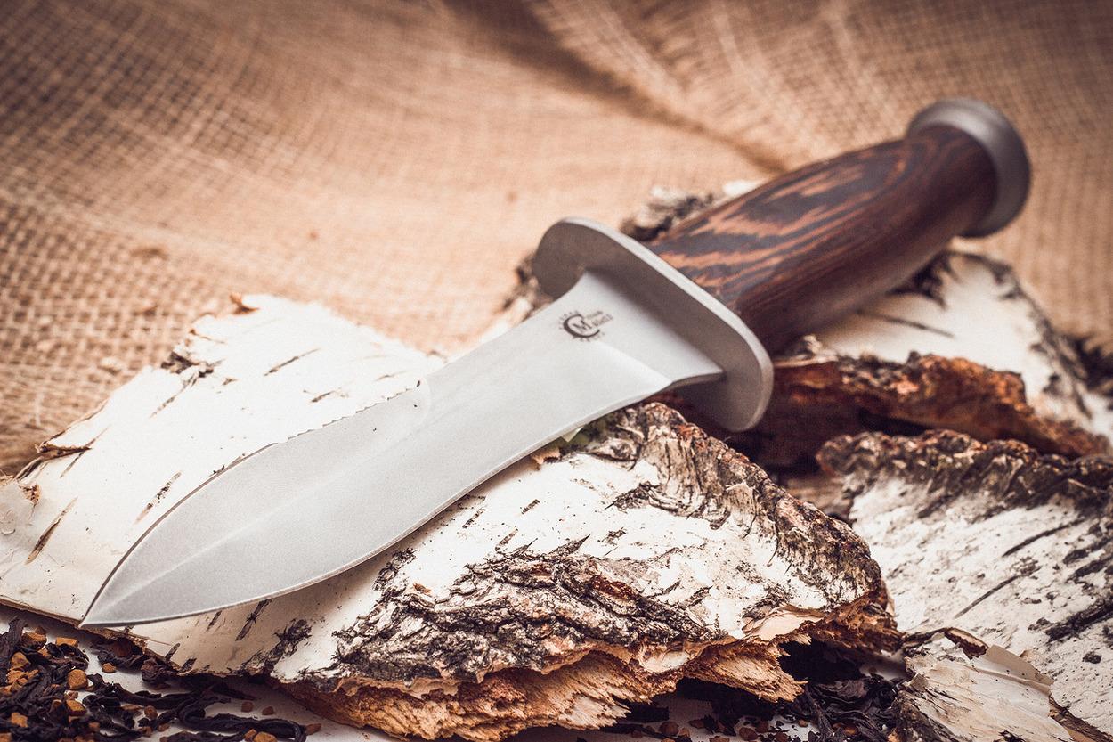 Фото 2 - Нож «Ратник», сталь 65х13, венге от Кузница Семина