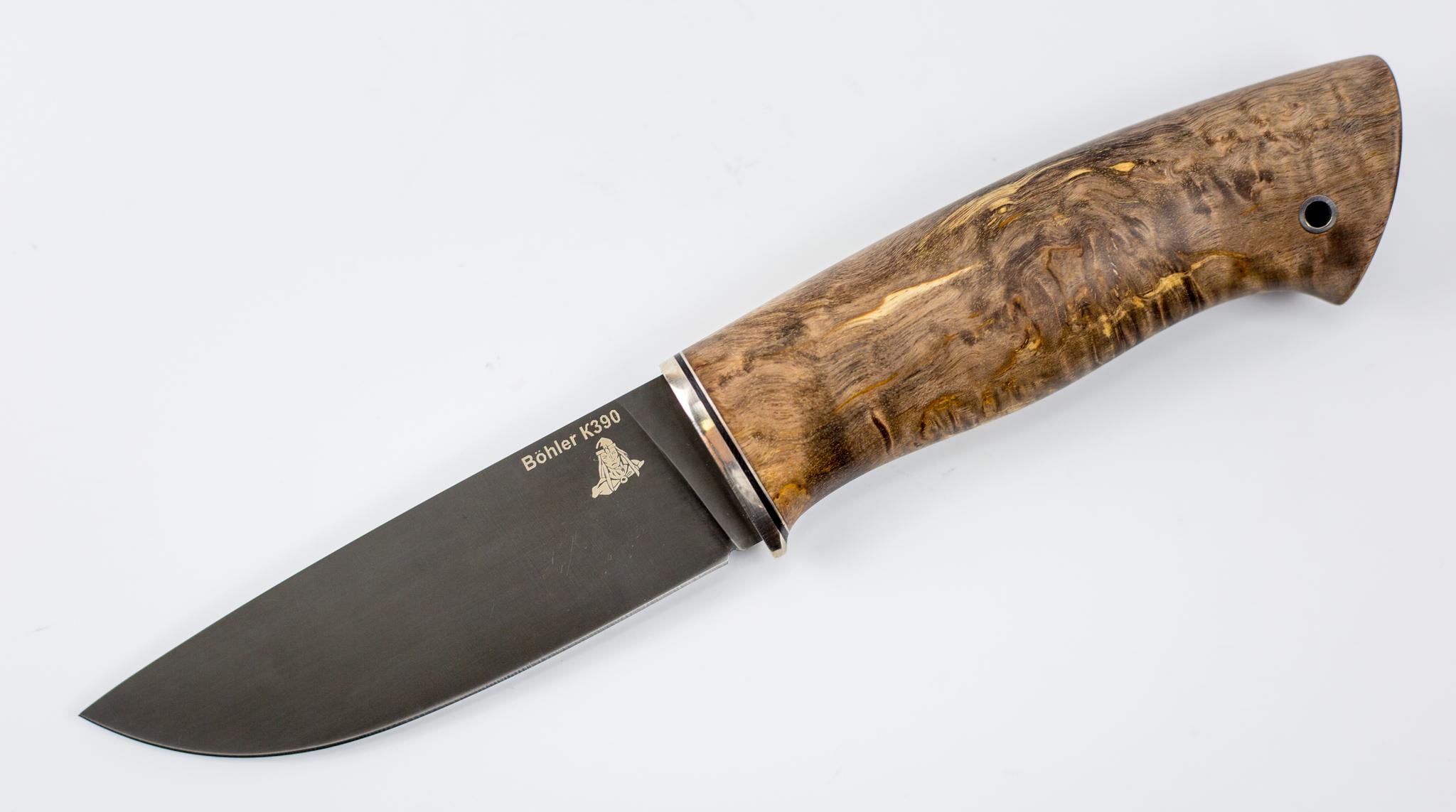 Нож Кроха, К390, карельская береза, мельхиорНожи Ворсма<br>Нож Кроха<br>