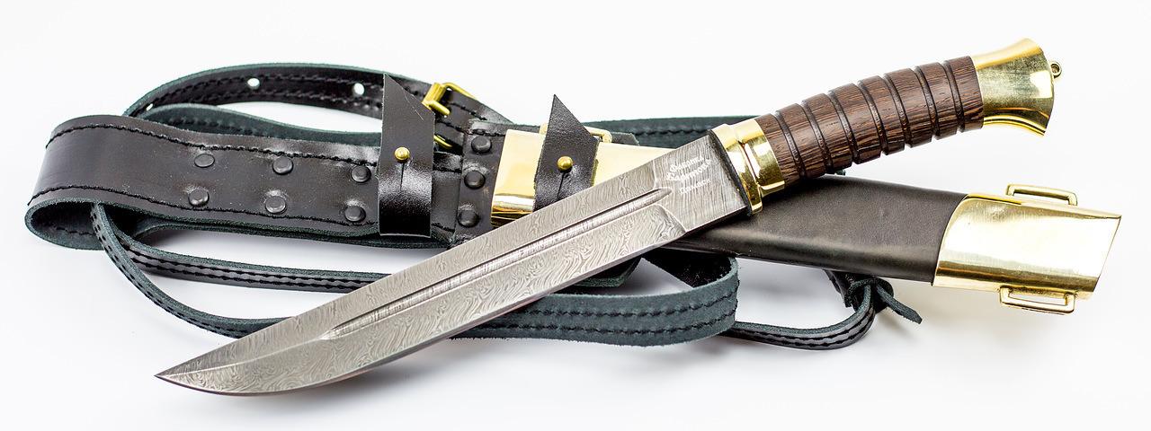Фото 3 - Нож Пластунский в ножнах, Дамаск от Фабрика Баринова