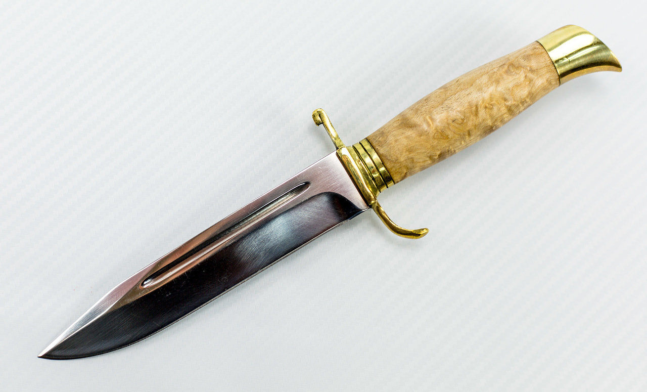 Фото 10 - Нож НР-40, карельская береза от Мастерская Климентьева